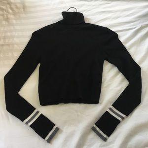 Zara Knit Long Sleeve Crop Top Size S